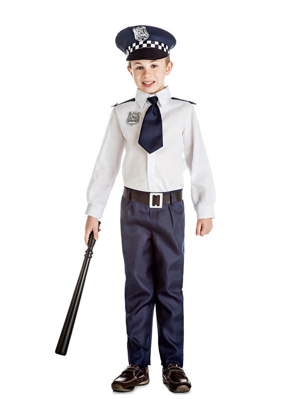 disfraz de policia azul niño
