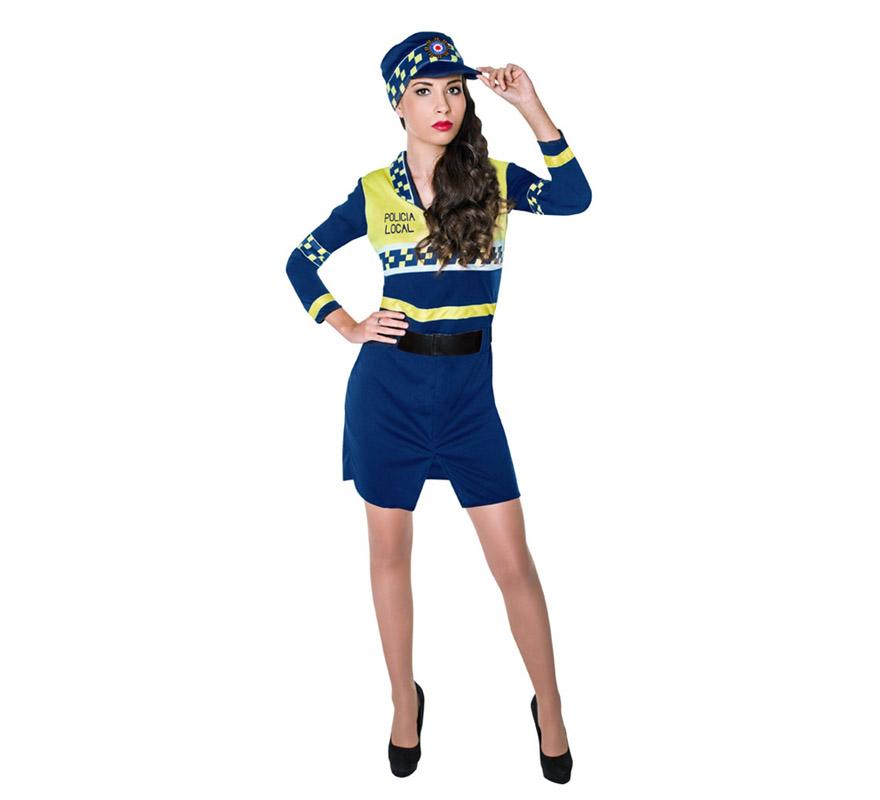 disfraz de policia local para mujer