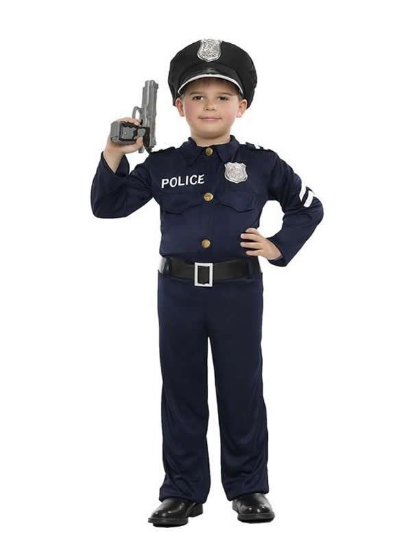 disfraz de policia para niño