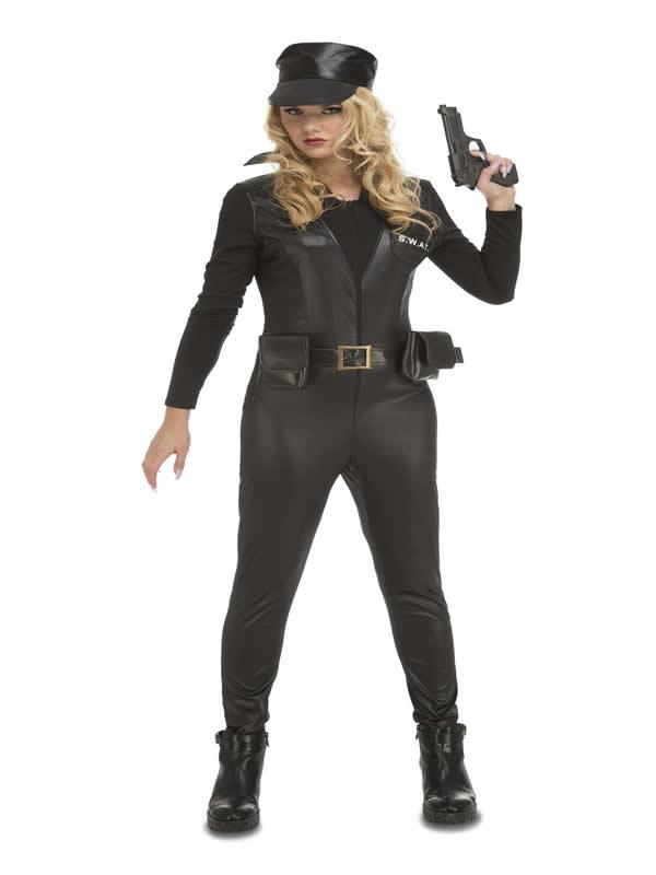 disfraz de policia swat para mujer