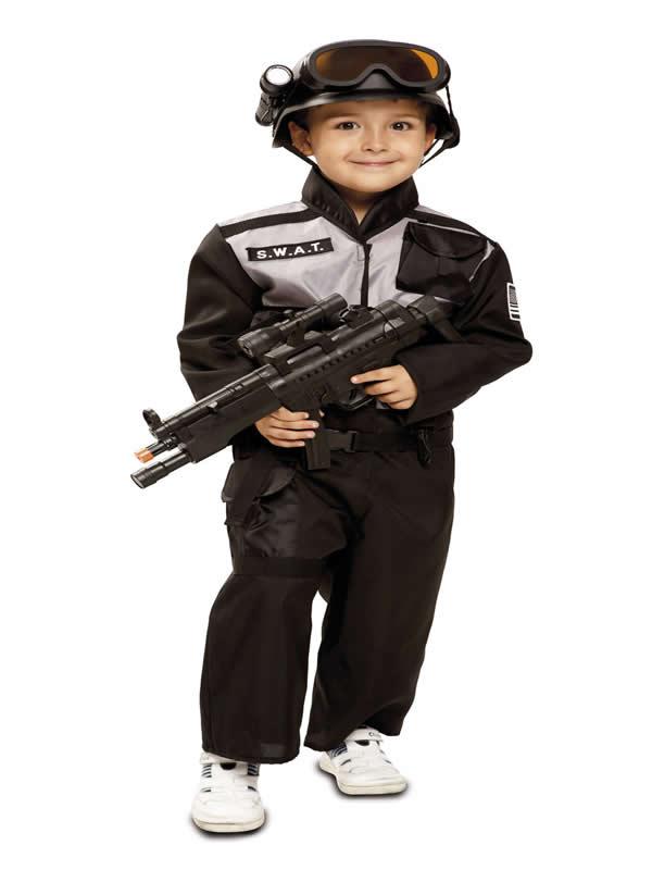 disfraz de policia swat para niño