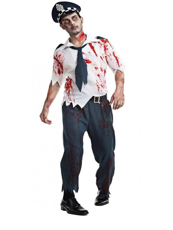 disfraz de policia zombie hombre