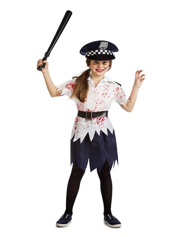 disfraz de policia zombie para nina K3847 - Los 10 mejores Disfraces Infantiles para Halloween