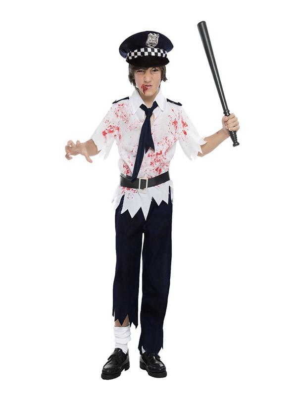 disfraz de policia zombie para nino K3934 - Los 10 mejores disfraces halloween niños