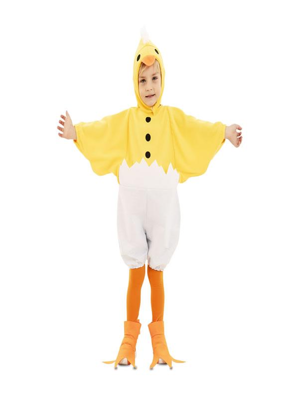 disfraz de pollito con cascaron infantil