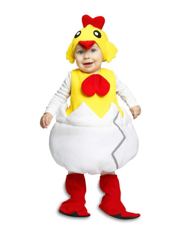 disfraz de pollito con cascaron para niño