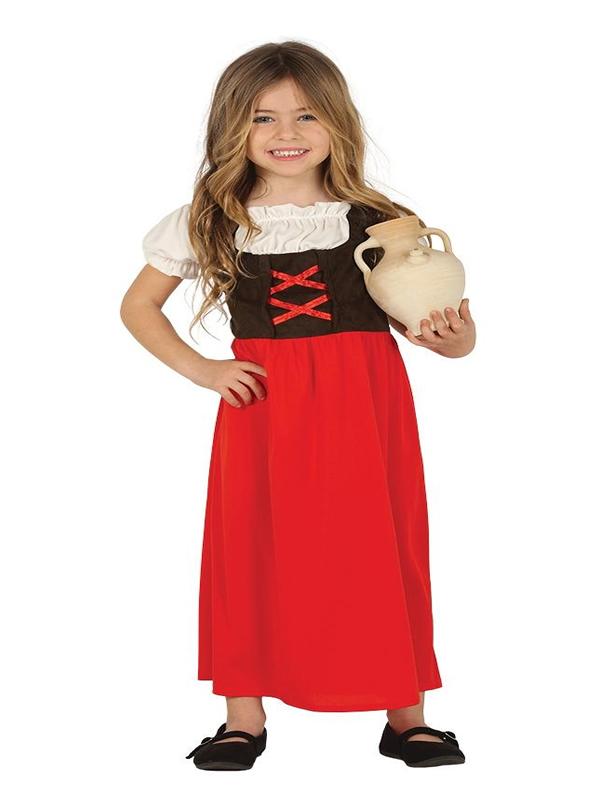 disfraz de posadera roja para niña