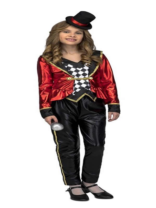 disfraz de presentadora de ceremonias niña