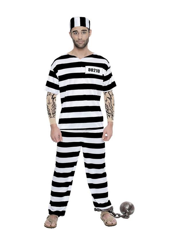 disfraz de preso con tattoo hombre k4860 - Disfraces en Pareja para tu Fiesta Temática