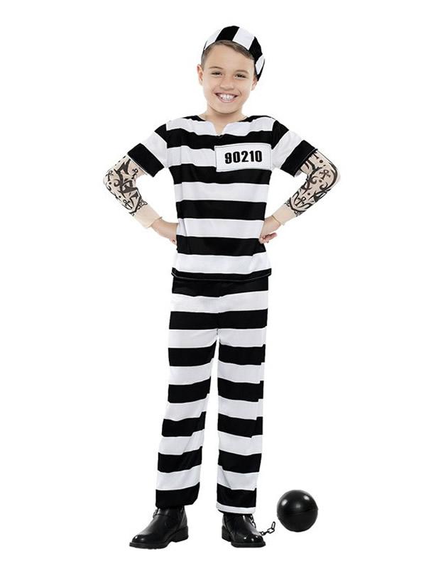 disfraz de preso tattoo niño