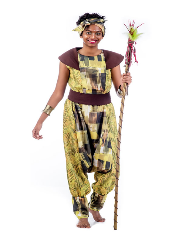 disfraz de princesa africana mujer