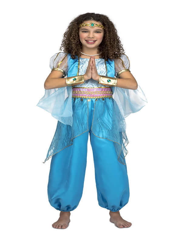 disfraz de princesa arabe azul niña