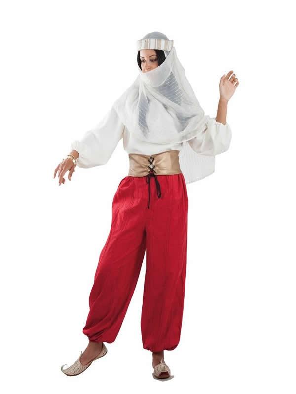 disfraz de princesa arabe roja mujer