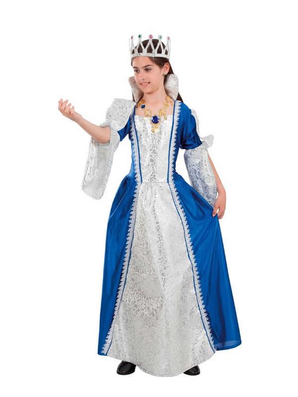 disfraz de princesa azul niña