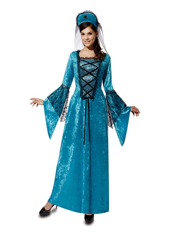 disfraz de princesa del medievo para mujer
