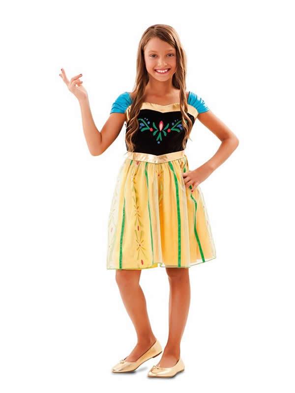 disfraz de princesa anna primavera niña