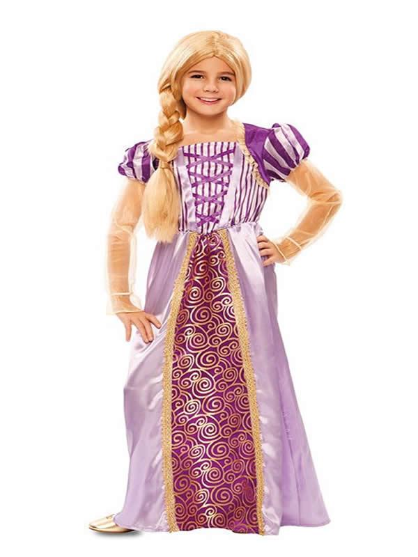 disfraz de princesa lila rapunzel niña