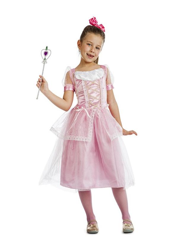 disfraz de princesa rosa claro niña