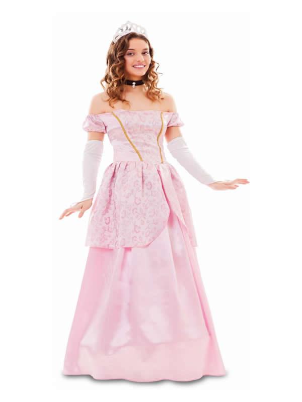 disfraz de princesa rosa para mujer