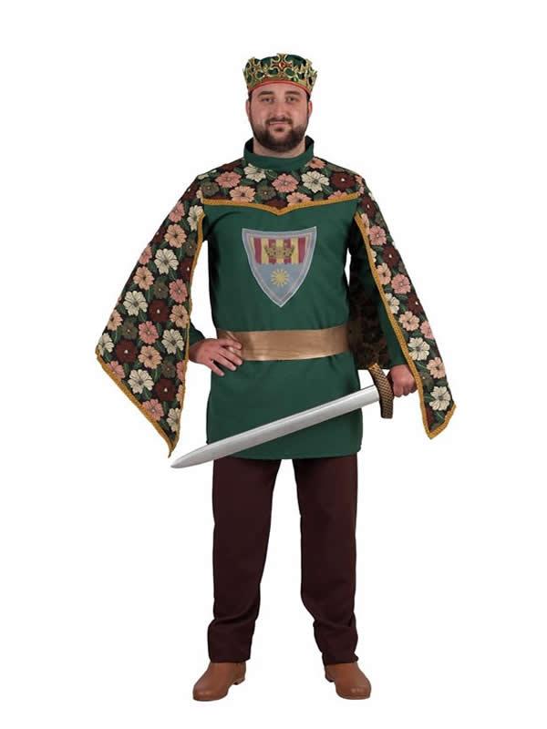 disfraz de principe medieval con flores hombre