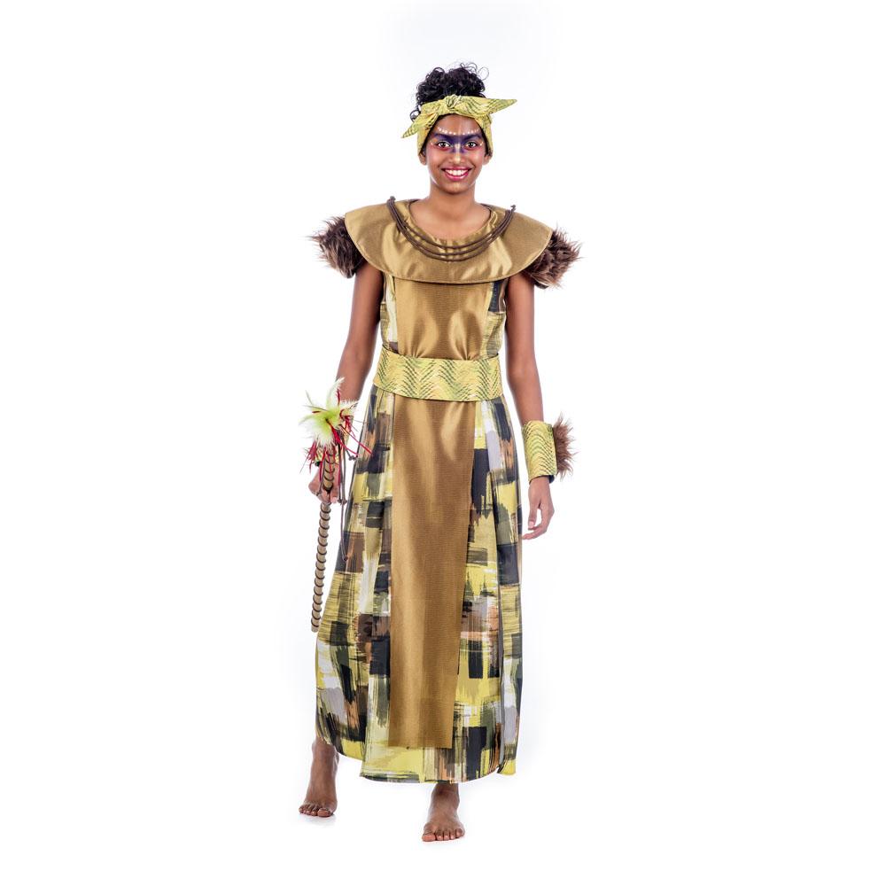 disfraz de reina africana deluxe mujer