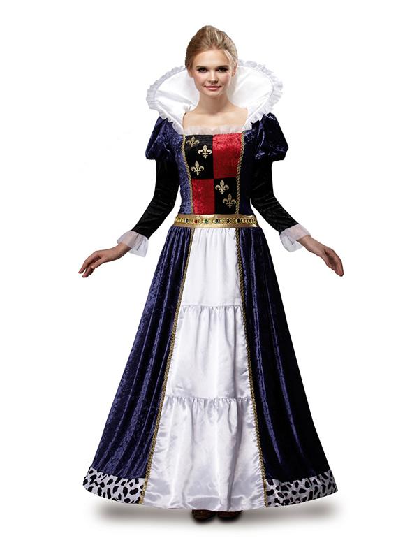 disfraz de reina medieval azul para mujer mom46409 0 - ¿Cómo organizar una boda medieval con disfraces medievales adultos?