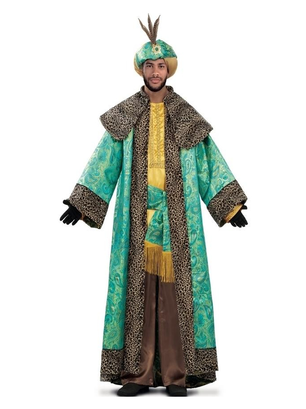disfraz de rey mago baltasar brocado hombre