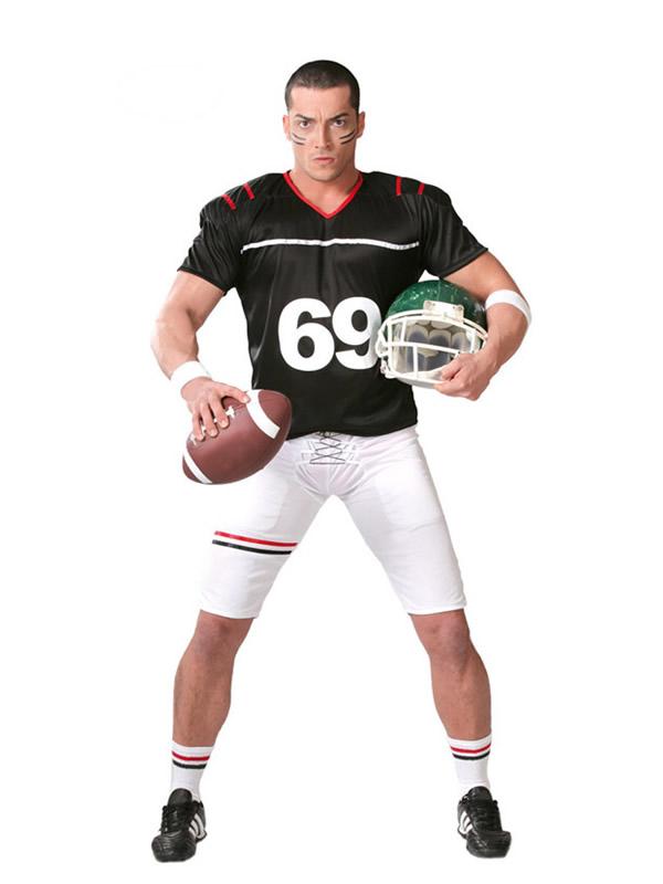 disfraz de rugby quarterback hombre