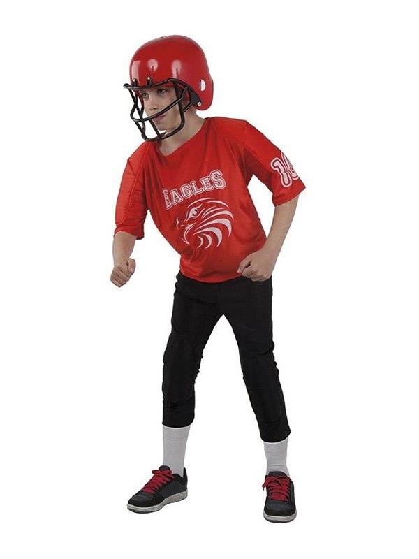 disfraz de rugby rojo para niño