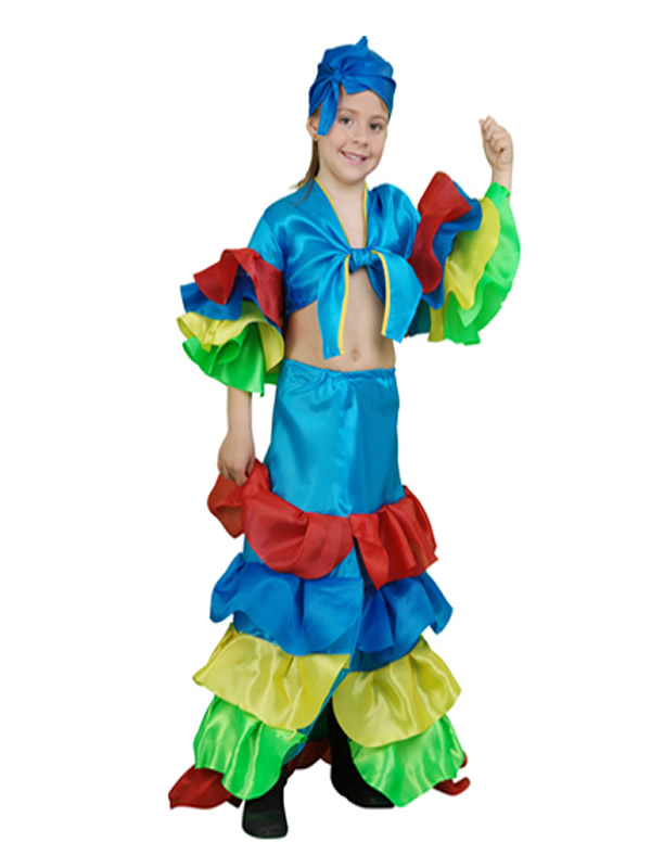 disfraz de rumbera azul niña