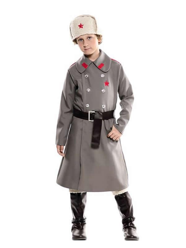 disfraz de ruso gris para niño
