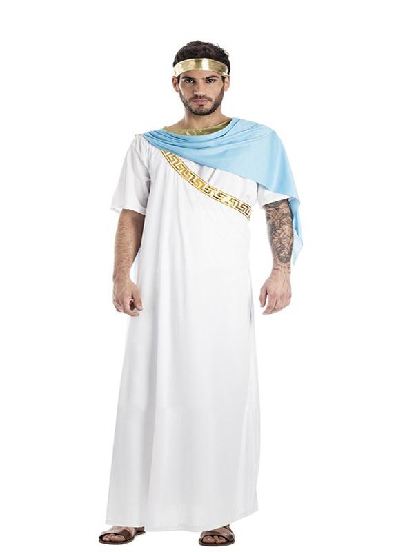 disfraz de sacerdote griego blanco hombre k0283 - Los Mejores Disfraces de Romanos para hombre