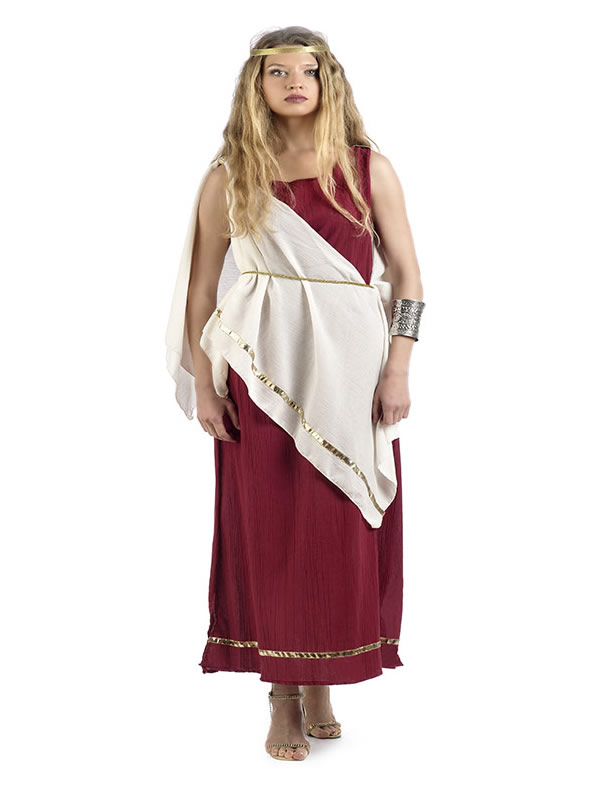 disfraz de sacerdotisa romana para mujer