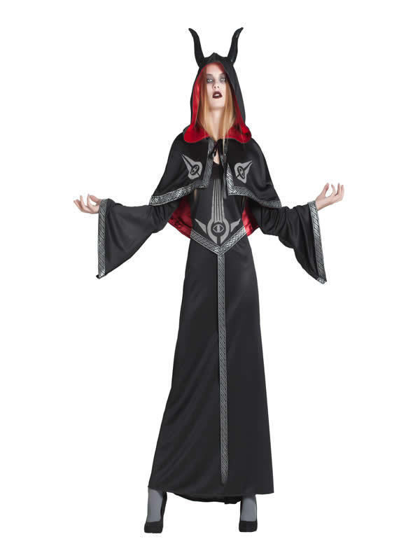 disfraz de sectaria negro mujer