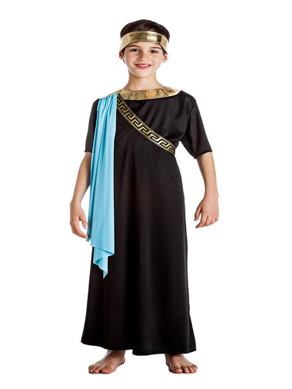 disfraz de senador romano negro niño