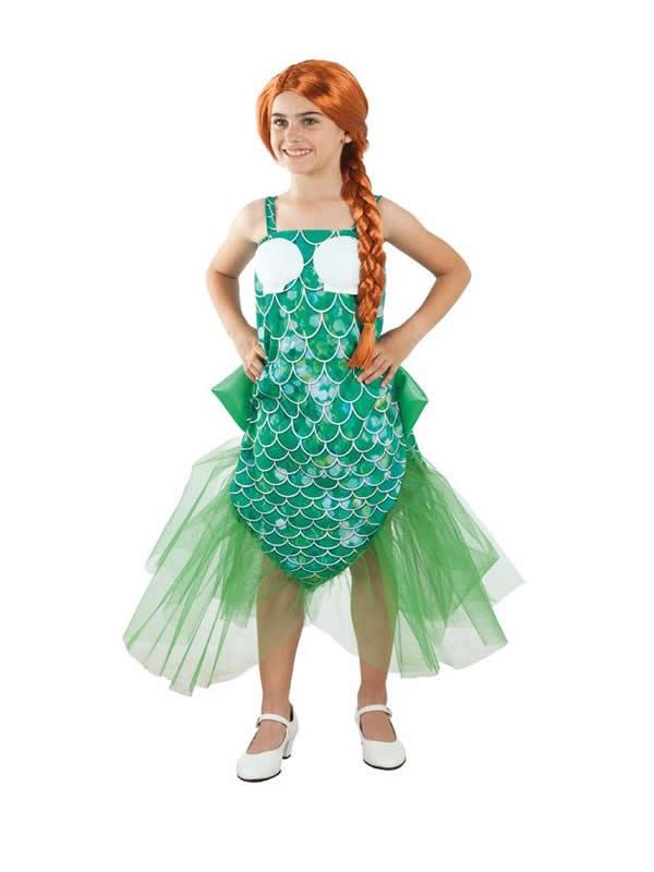 disfraz de sirena con conchas para niña