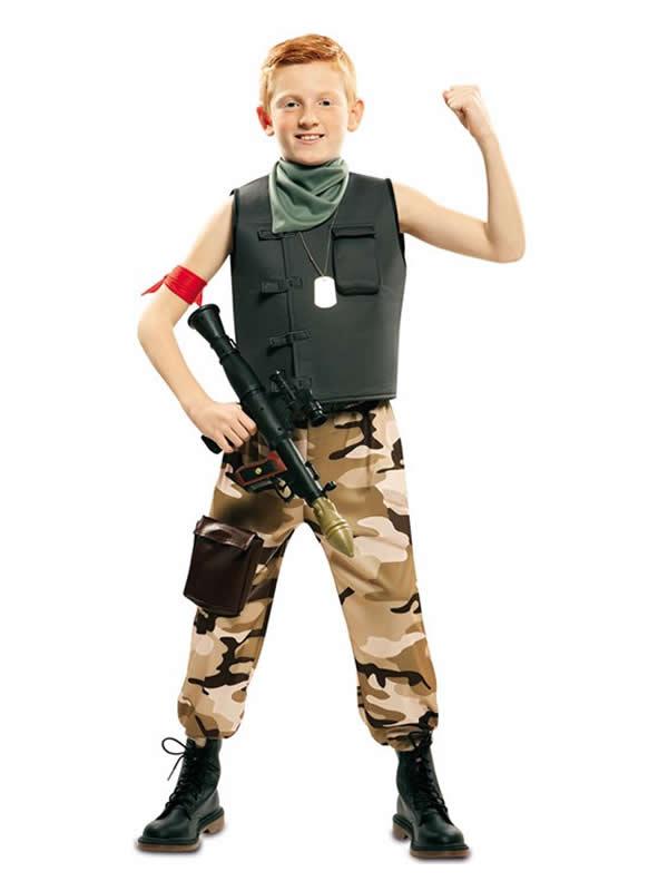 disfraz de soldado de combate para niño