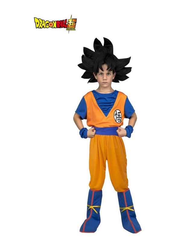 disfraz de son goku de dragon ball con peluca niño
