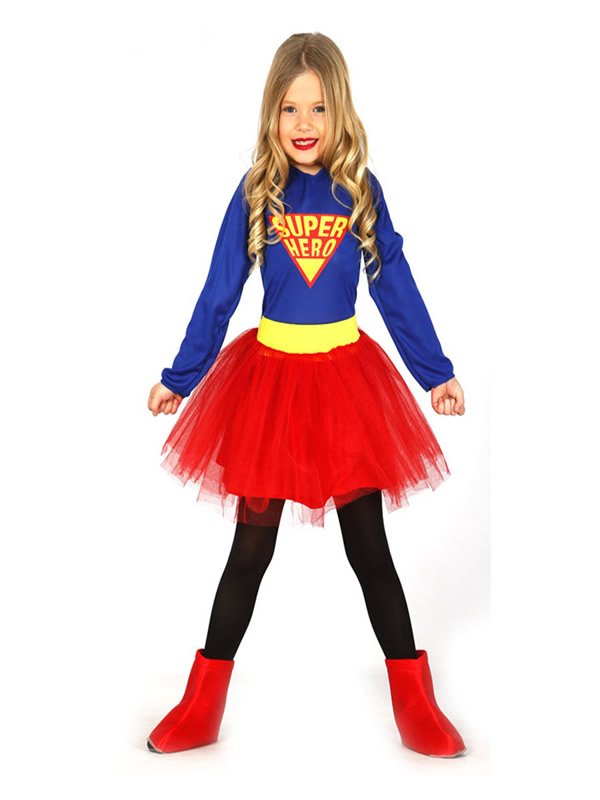 disfraz de supergirls con tutu nina gui83224 - ¿Cómo hacer una fiesta de superhéroes con disfraces y complementos?