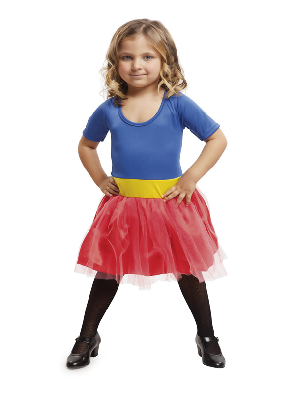 disfraz de superheroina azul para niña