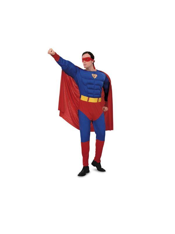 disfraz de superman musculoso adulto