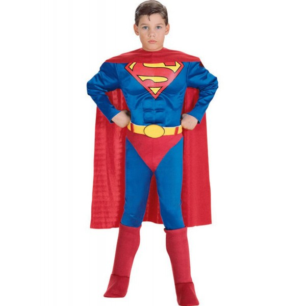 disfraz de superman musculoso niño