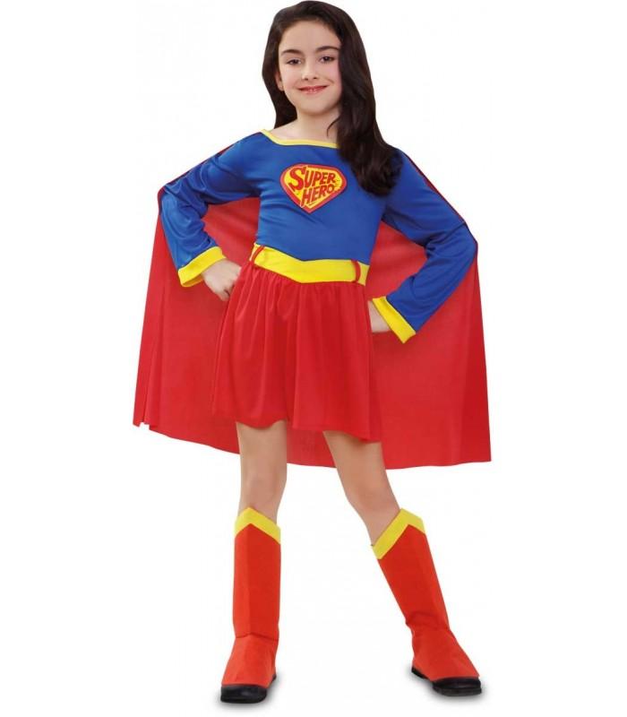 disfraz de superman niña infantil