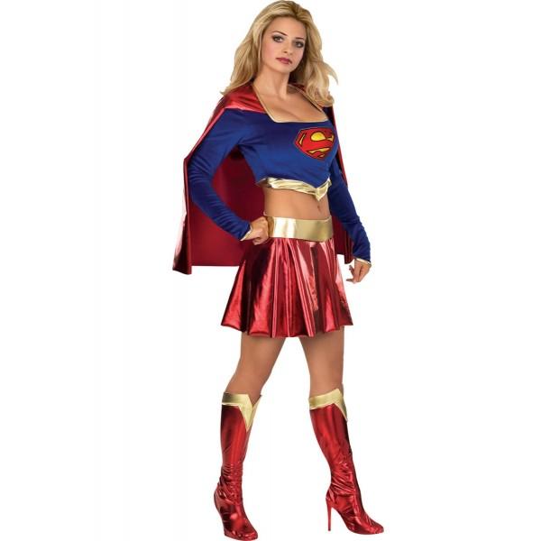 disfraz de superman mujer lujo