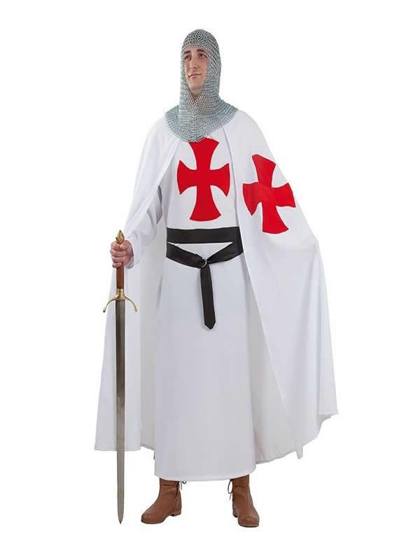 disfraz de templario medieval hombre