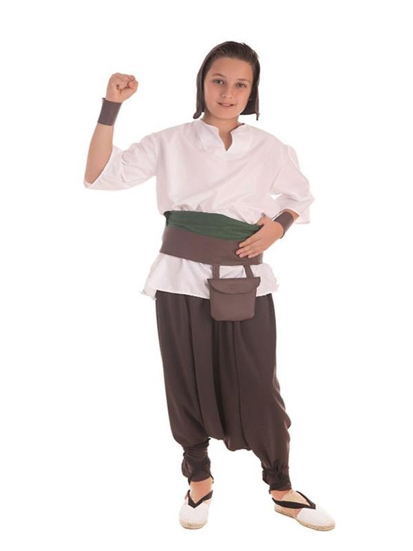 disfraz de tendero medieval para niño