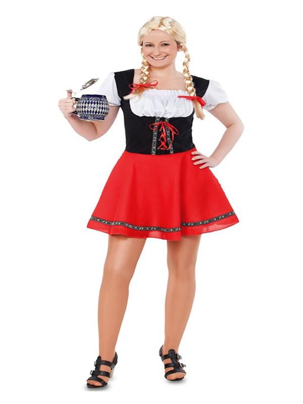disfraz de tirolesa roja para mujer