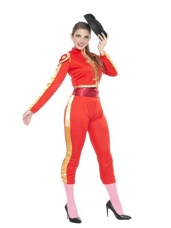 disfraz de torera rojo sexy mujer