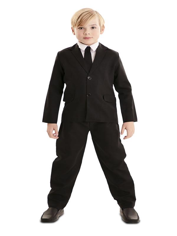 disfraz de traje negro para niño