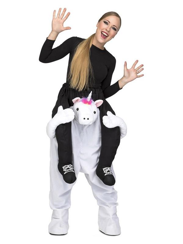 disfraz de unicornio a hombros para adultos